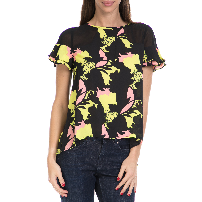 GUESS – Γυναικεία μπλούζα DOMINIQUE GUESS μαύρη-εμπριμέ