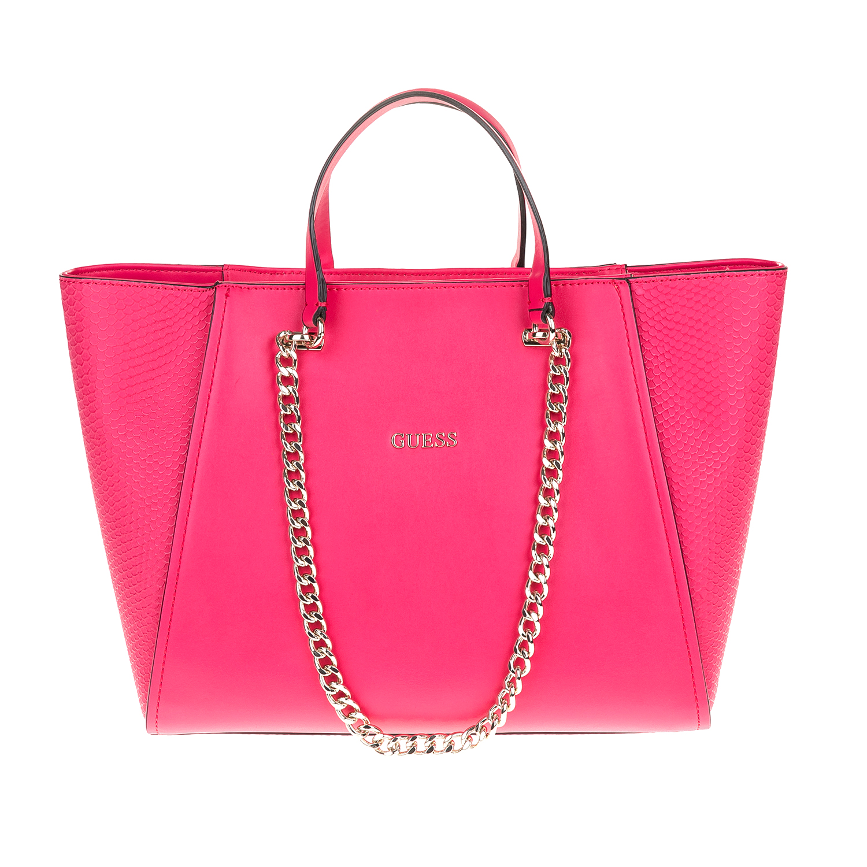 GUESS - Γυναικεία τσάντα GUESS ροζ γυναικεία αξεσουάρ τσάντες σακίδια χειρός
