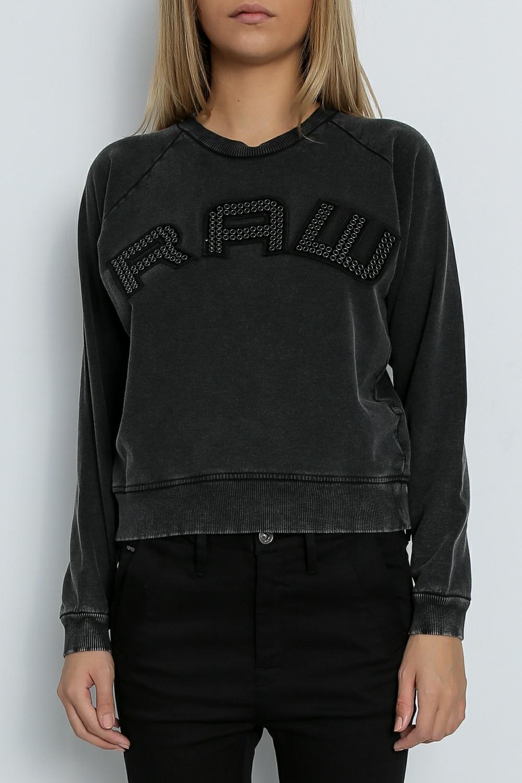 G-STAR RAW - Γυναικείο φούτερ G-Star Raw Umbony μαύρο γυναικεία ρούχα μπλούζες μακρυμάνικα