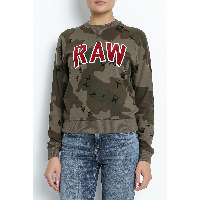 G-STAR RAW - Γυναικείο φούτερ G-Star Raw Valera παραλλαγή γυναικεία ρούχα μπλούζες μακρυμάνικα