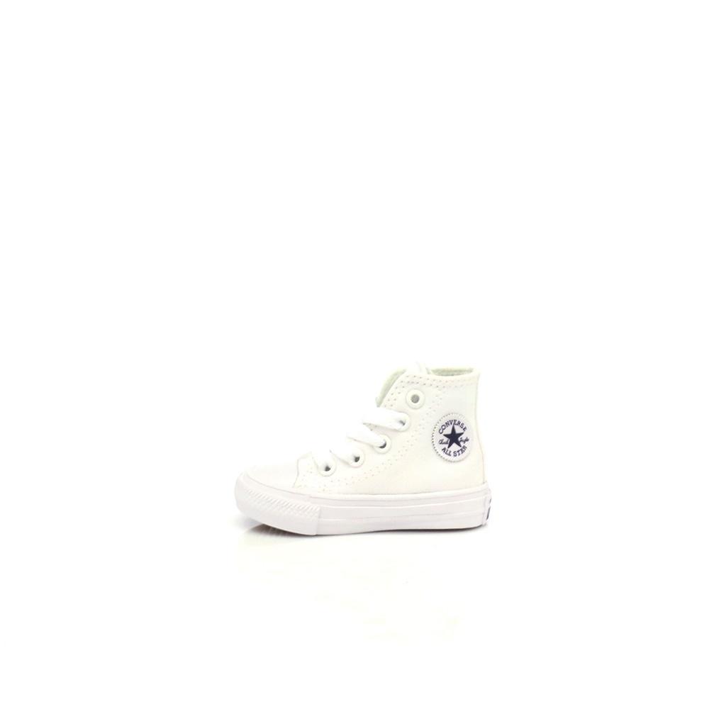 CONVERSE - Βρεφικά παπούτσια Chuck Taylor All Star II Hi λευκά