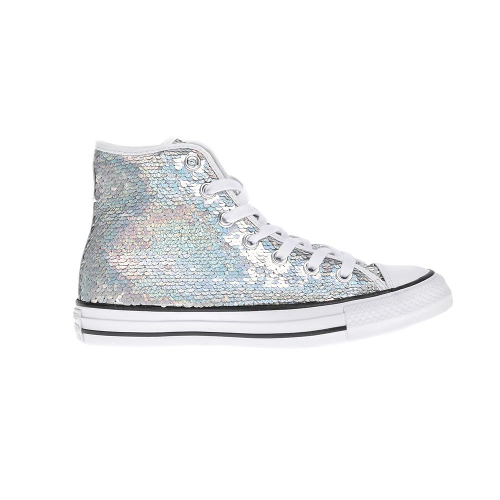 CONVERSE - Γυναικεία μποτάκια Chuck Taylor All Star Hi ασημί γυναικεία παπούτσια sneakers