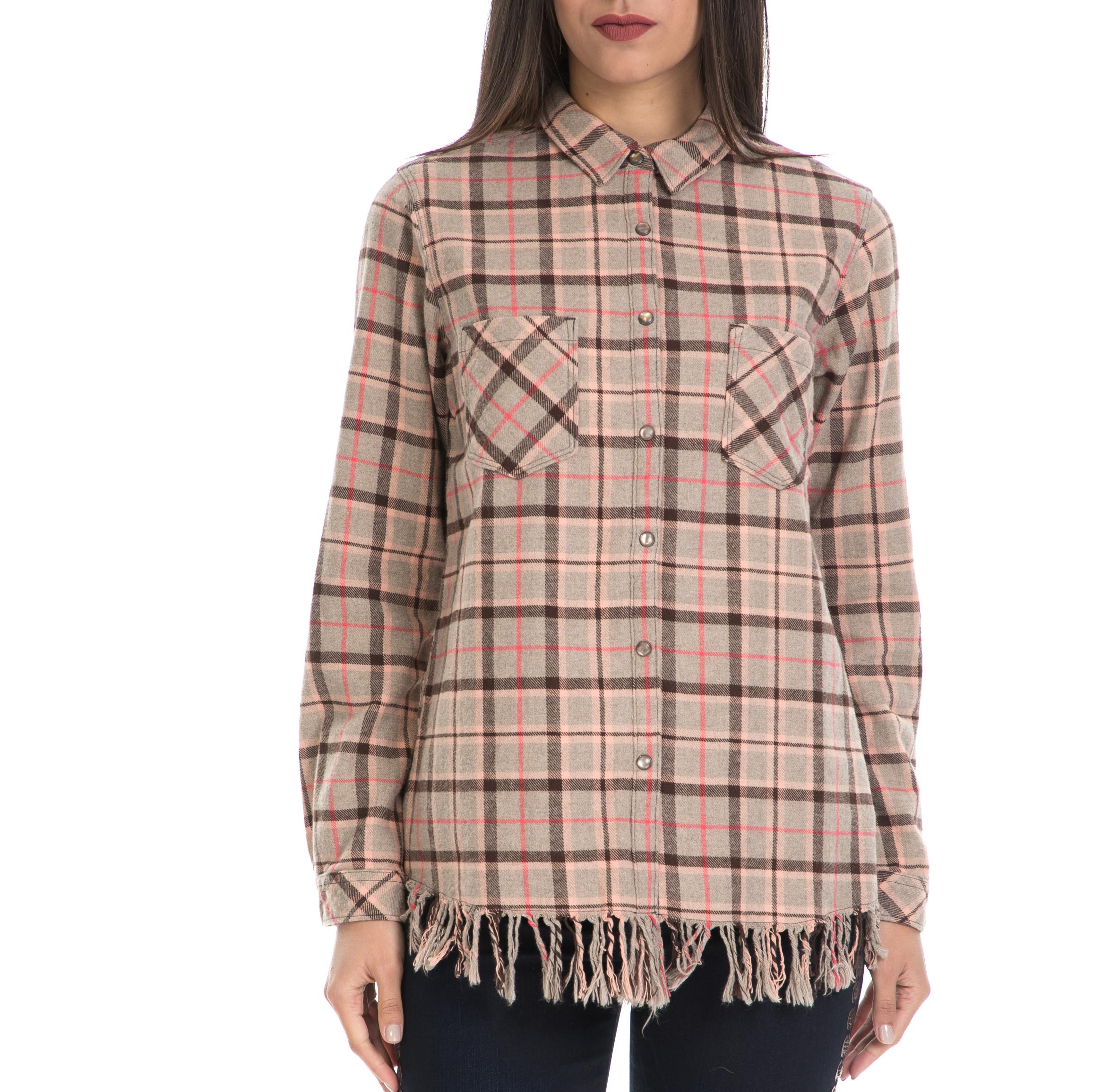 MAISON SCOTCH – Γυναικείο πουκάμισο MAISON SCOTCH μπεζ-καφέ