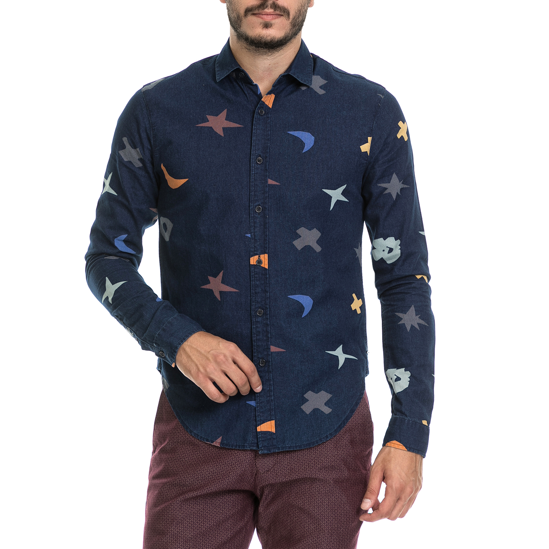 SCOTCH & SODA – Ανδρικό πουκάμισο SCOTCH & SODA μπλε