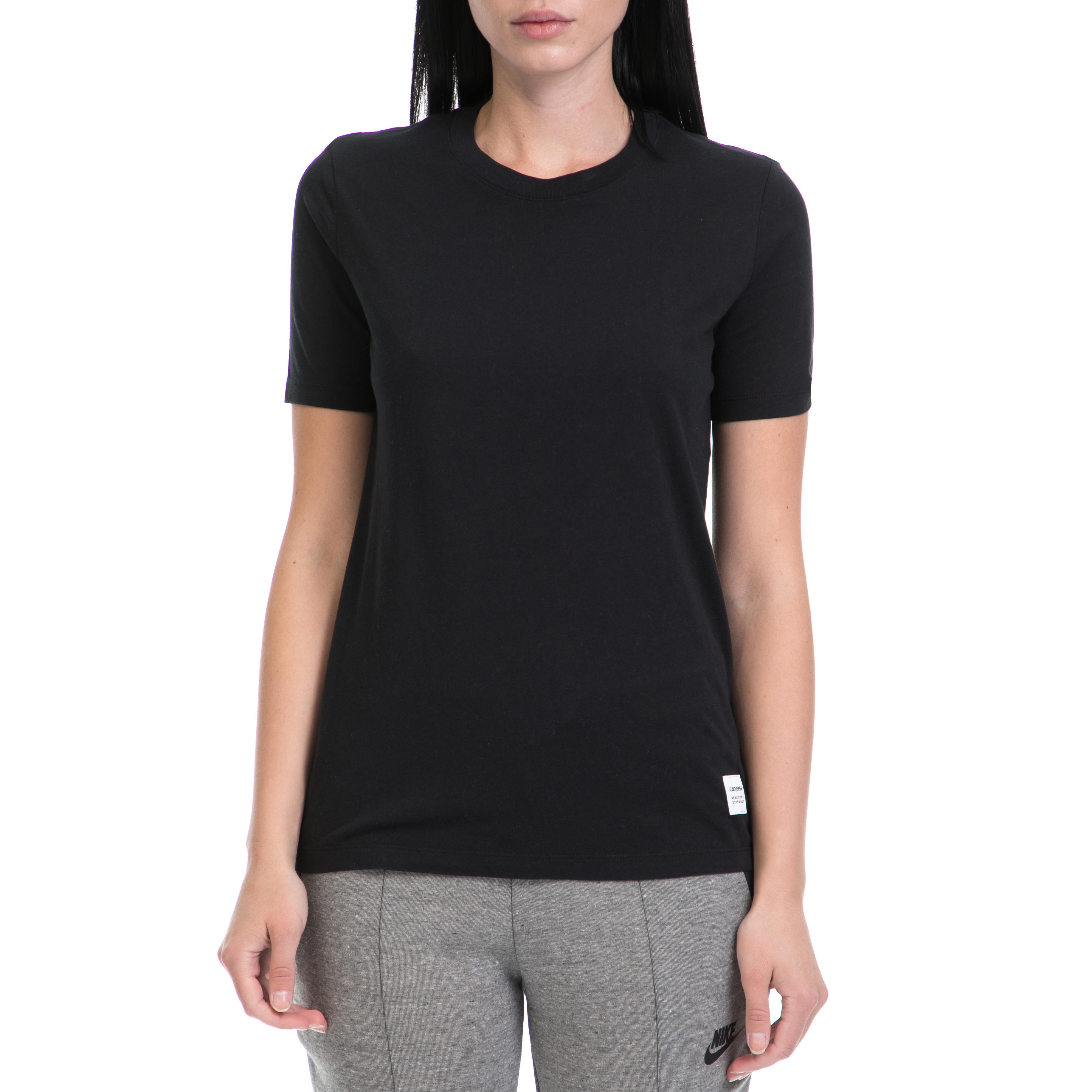 CONVERSE – Γυναικείο T-shirt Converse Essentials Tee μαύρο