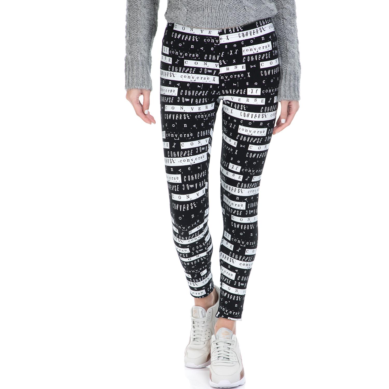 CONVERSE - Κολάν Converse Winter Legging ασπρόμαυρο γυναικεία ρούχα αθλητικά φόρμες