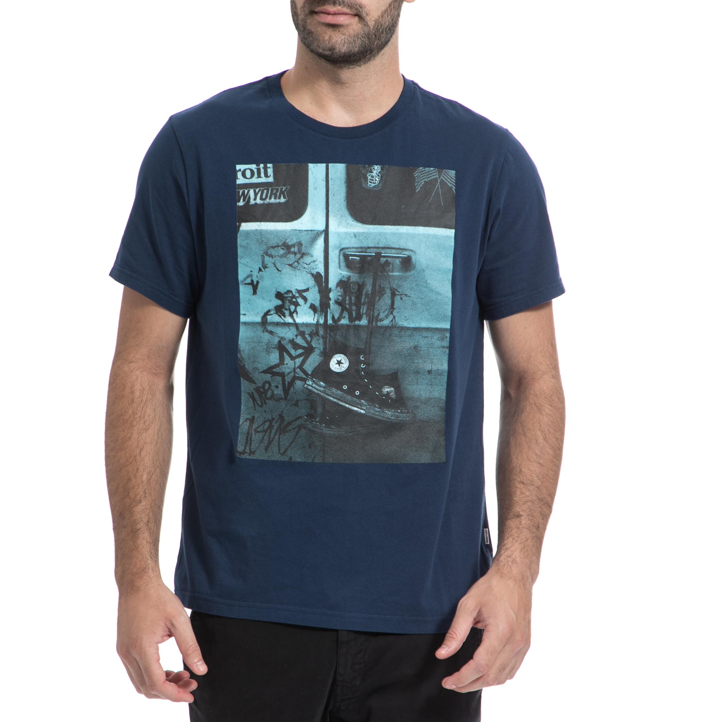CONVERSE – Ανδρική μπλούζα CONVERSE μπλε