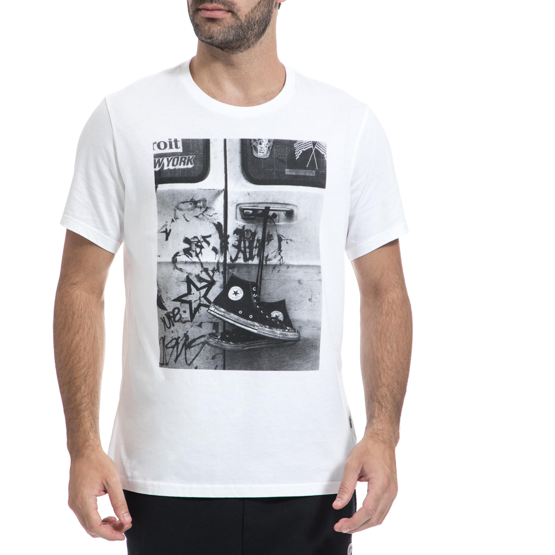 CONVERSE – Ανδρική μπλούζα CONVERSE άσπρη