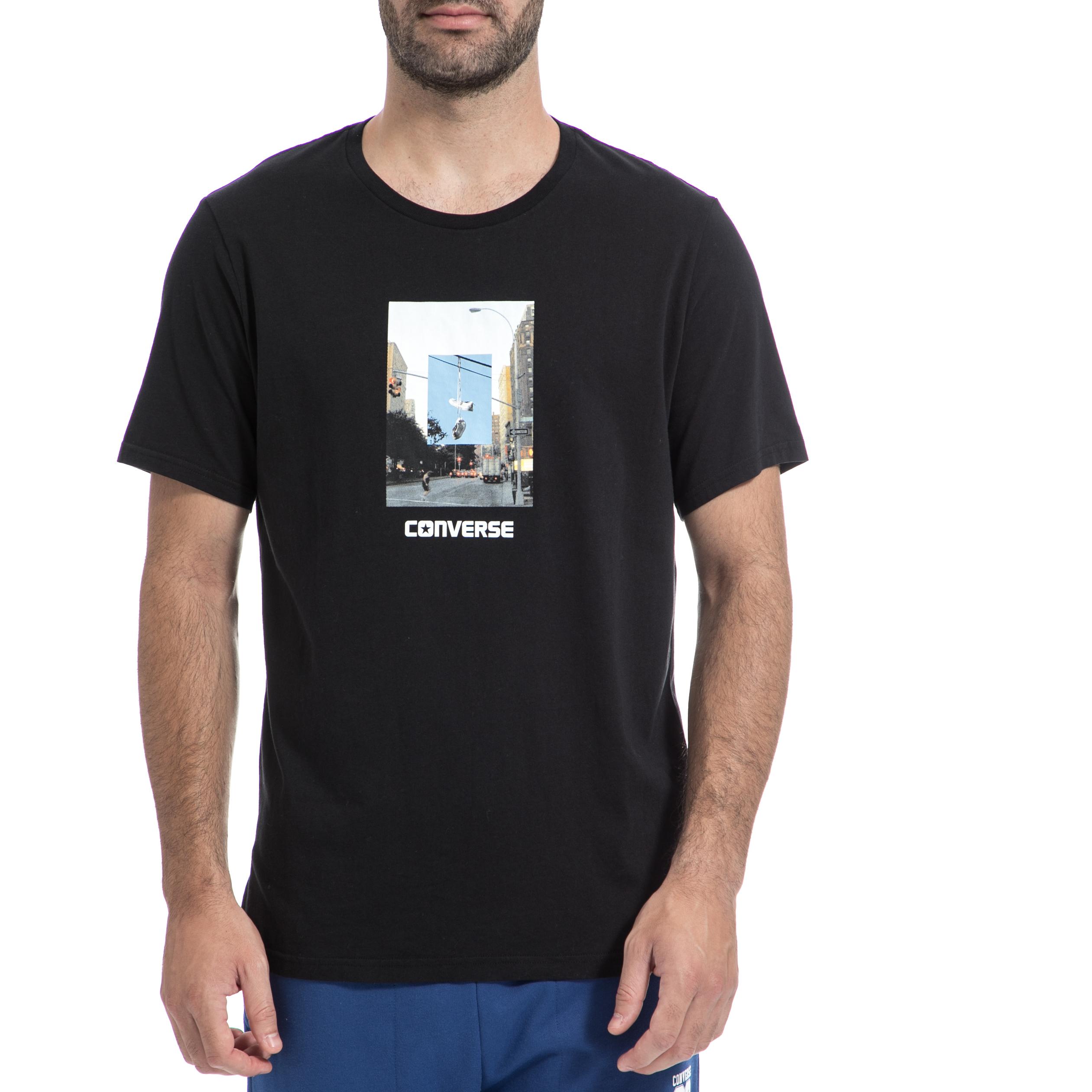 CONVERSE – Ανδρική μπλούζα CONVERSE μαύρη