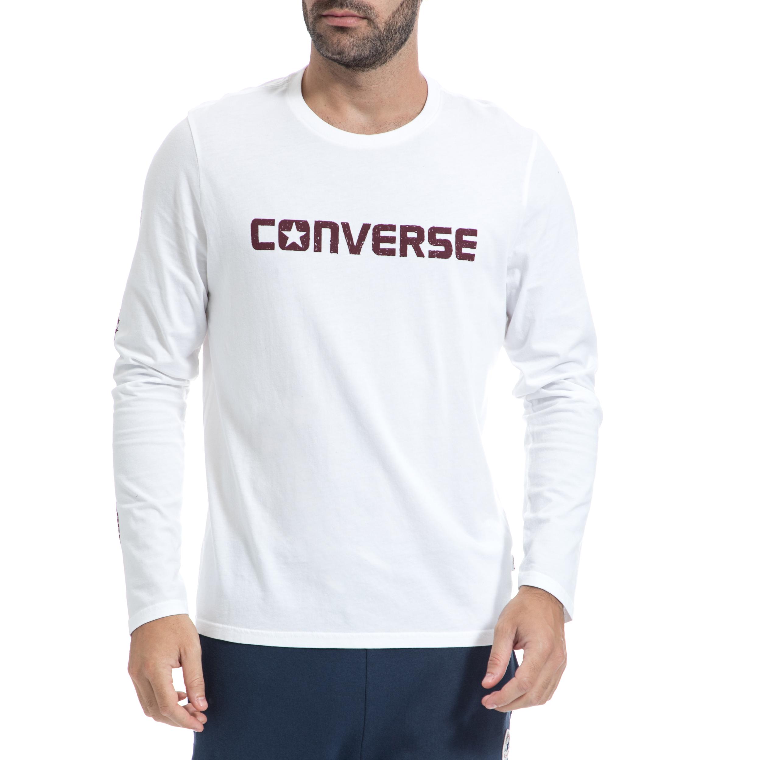 CONVERSE – Ανρική μπλούζα CONVERSE άσπρη