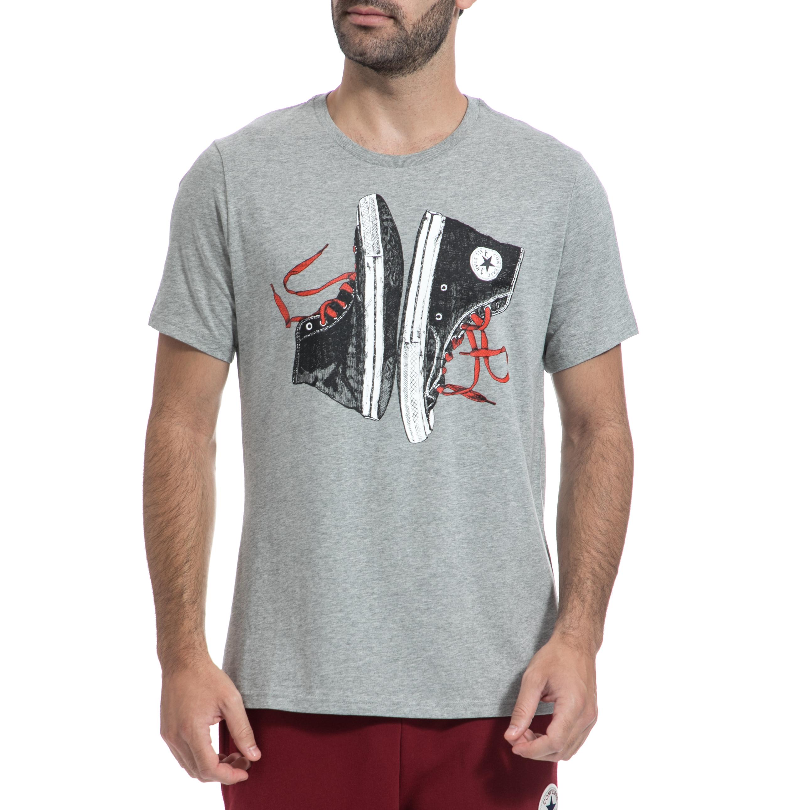 CONVERSE – Ανρική μπλούζα CONVERSE γκρι