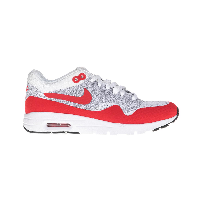 NIKE – Γυναικεία παπούτσια NIKE AIR MAX 1 ULTRA FLYKNIT γκρι-κόκκινα