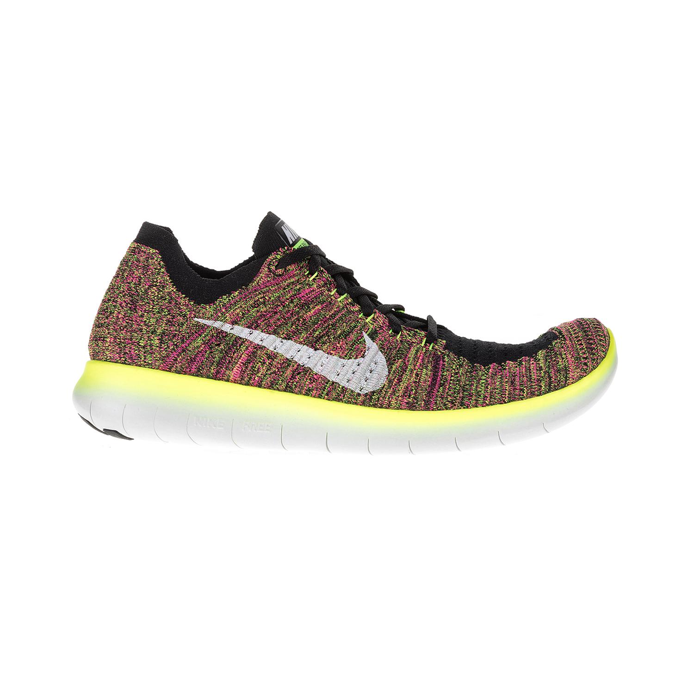 NIKE - Ανδρικά αθλητικά παπούτσια NIKE FREE RN FLYKNIT OC μαύρα-πολύχρωμα ανδρικά παπούτσια αθλητικά running