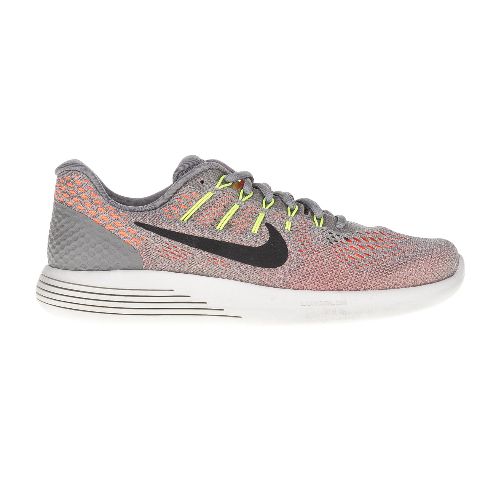 NIKE - Ανδρικά παπούτσια για τρέξιμο NIKE LUNARGLIDE 8 γκρι-πορτοκαλί