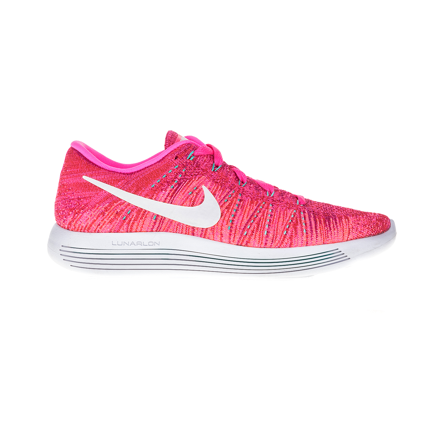NIKE – Γυναικεία αθλητικά παπούτσια NIKE LUNAREPIC LOW FLYKNIT ροζ-λευκό