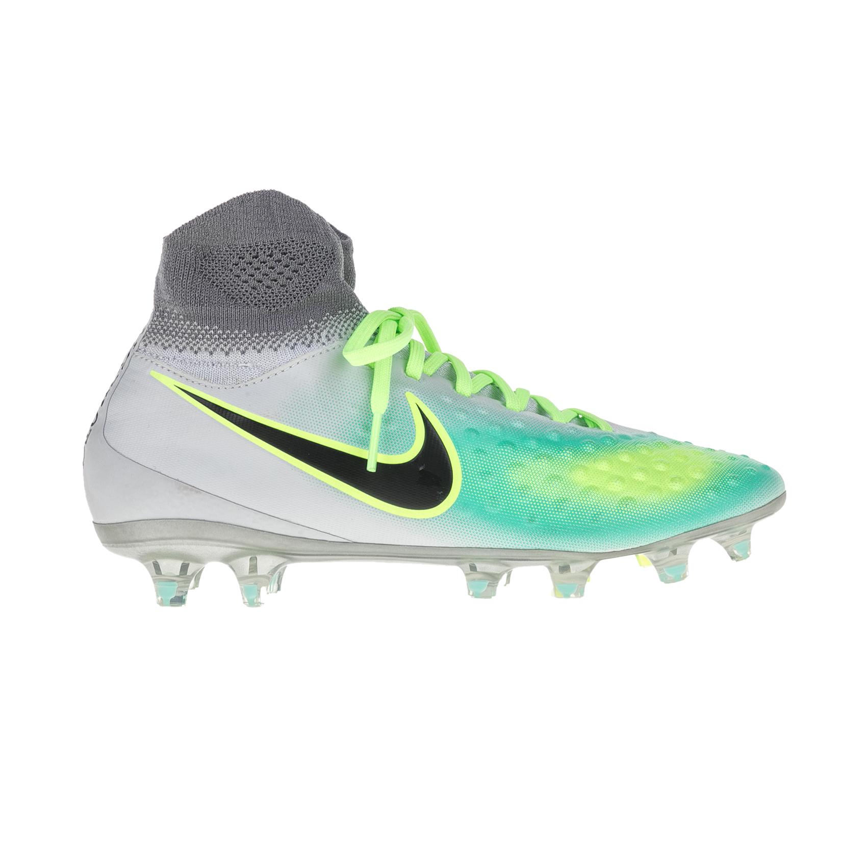 NIKE – Unisex παιδικά ποδοσφαιρικά παπούτσια Nike JR MAGISTA OBRA II FG γκρι – πράσινα
