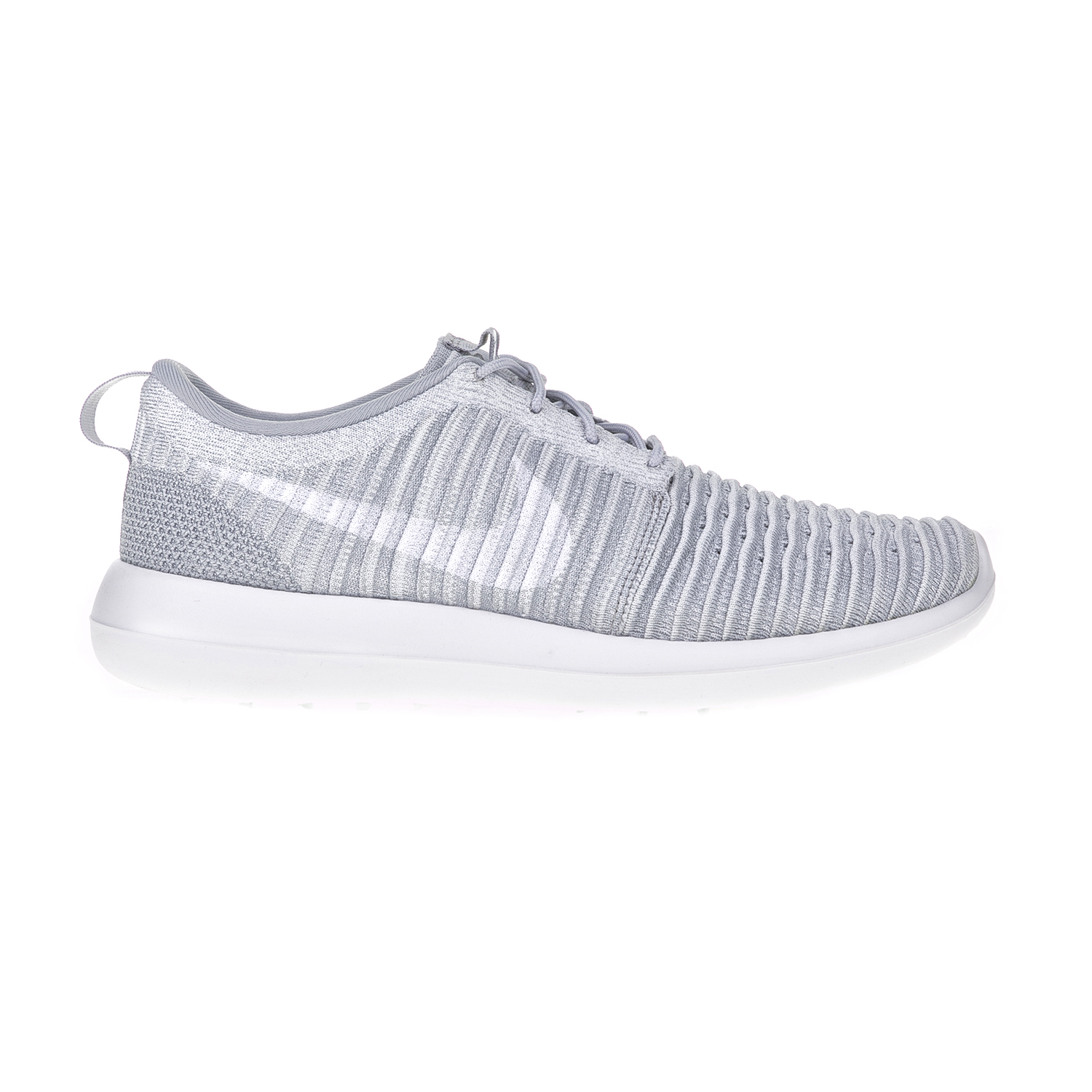 NIKE – Ανδρικά αθλητικά παπούτσια NIKE ROSHE TWO FLYKNIT γκρι-λευκά