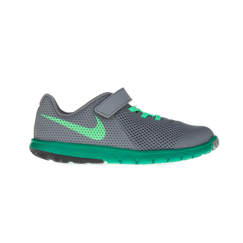 NIKE – Παιδικά παπούτσια NIKE FLEX EXPERIENCE 5 γκρι-πράσινα