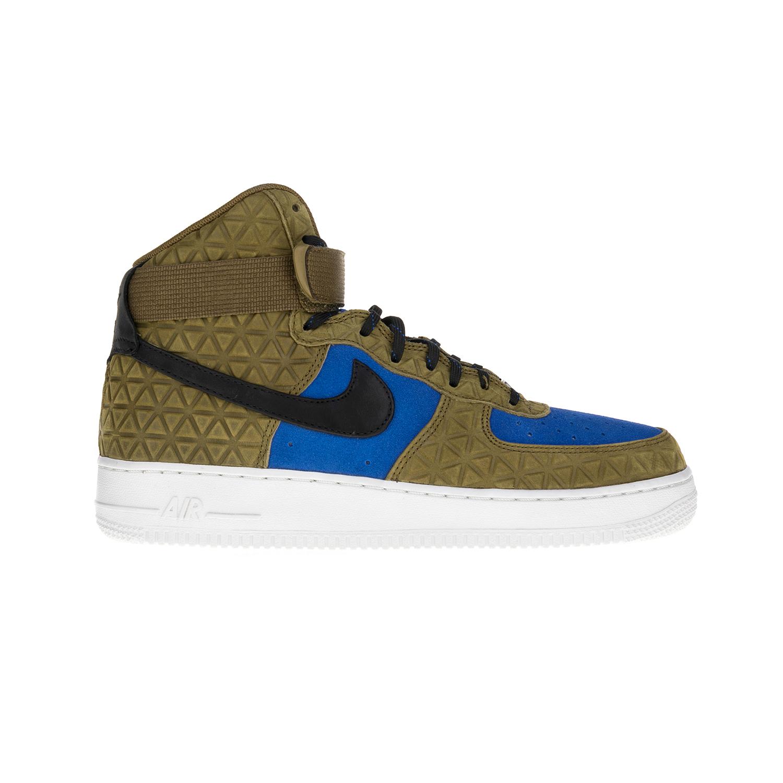 NIKE - Γυναικεία παπούτσια Nike AIR FORCE 1 HI PRM χακί-μπλε γυναικεία παπούτσια αθλητικά basketball
