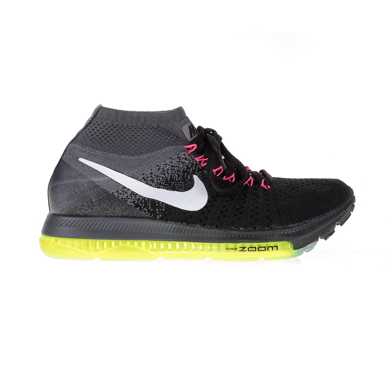 NIKE - Γυναικεία αθλητικά παπούτσια NIKE ZOOM ALL OUT FLYKNIT μαύρα-γκρι