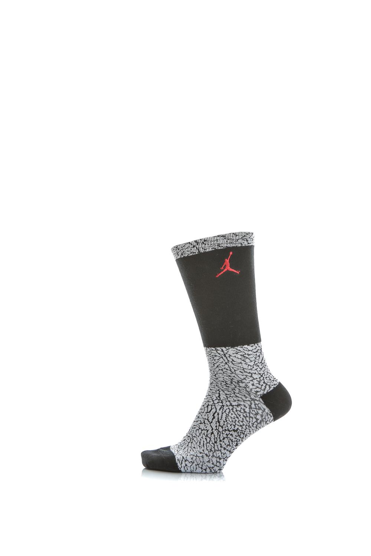 NIKE – Unisex αθλητικές κάλτσες Nike JORDAN ELE PRINT CREW μαύρες – λευκές