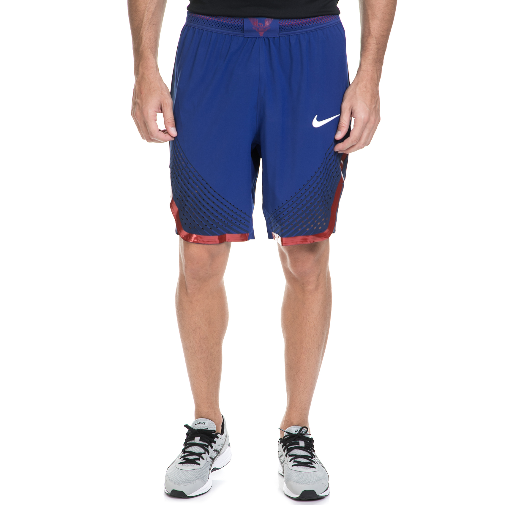 NIKE - Ανδρική αθλητική βερμούδα ΝΙΚΕ USA M NK AROSWFT HPRELT μπλε ανδρικά ρούχα σορτς βερμούδες αθλητικά