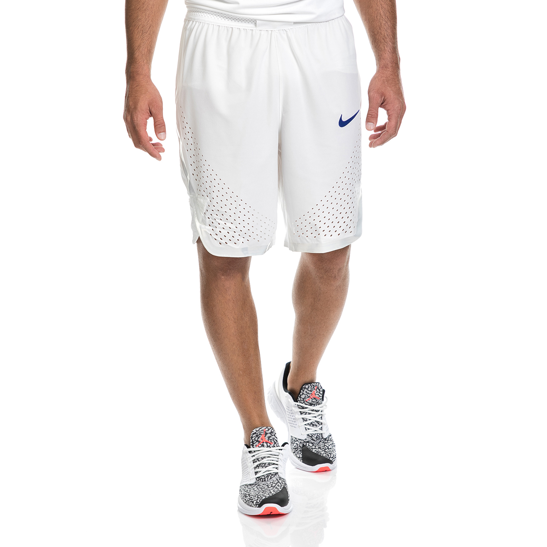 NIKE - Ανδρική βερμούδα NIKE λευκή ανδρικά ρούχα σορτς βερμούδες αθλητικά