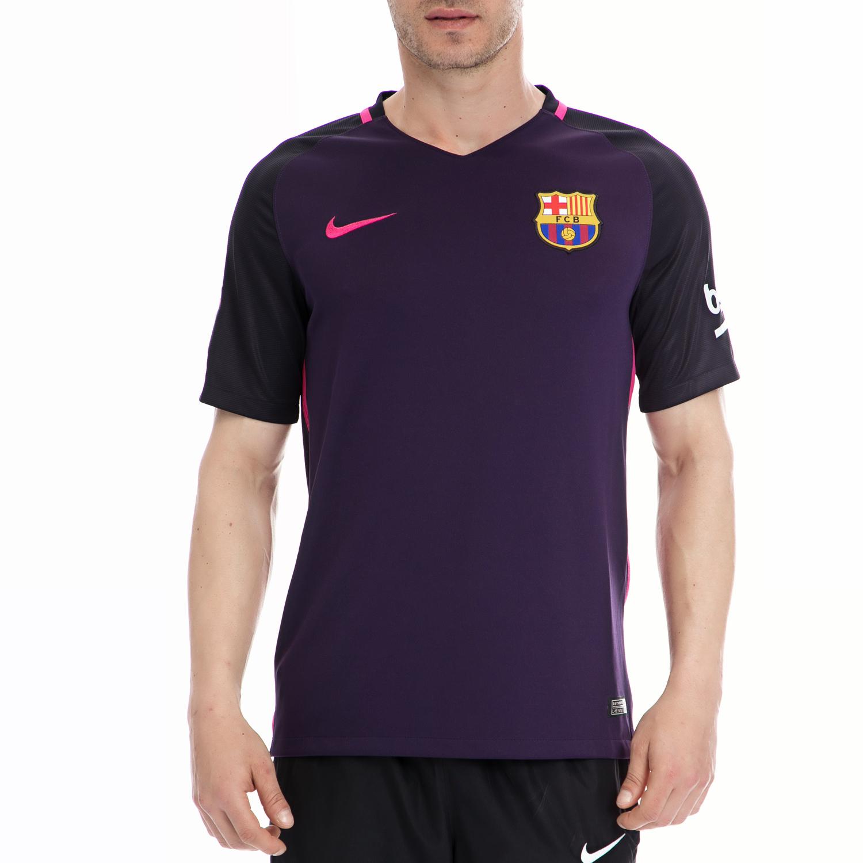 NIKE - Ανδρική μπλούζα NIKE μωβ ανδρικά ρούχα αθλητικά t shirt