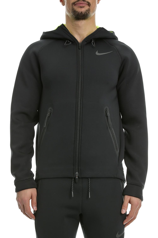 NIKE - Ανδρική φούτερ ζακέτα Nike THRMA SPHR MX JKT HD FZ μαύρη ανδρικά ρούχα αθλητικά φούτερ μακρυμάνικα