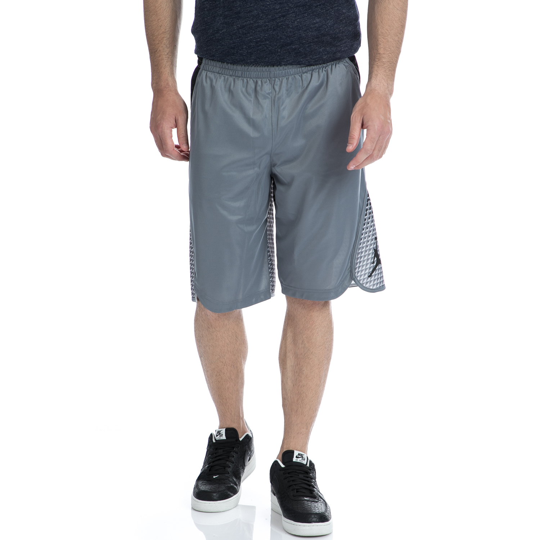 NIKE - Αντρική βερμούδα NIKE γκρι-μαύρη ανδρικά ρούχα σορτς βερμούδες αθλητικά