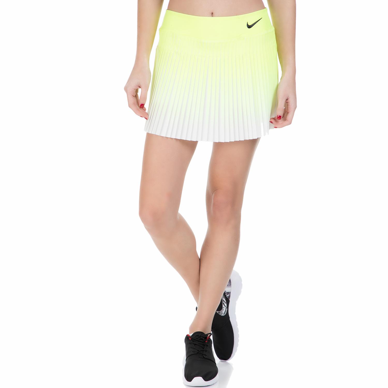 NIKE – Γυναικεία φούστα για τένις Nike FLX VCTRY λευκή – κίτρινη