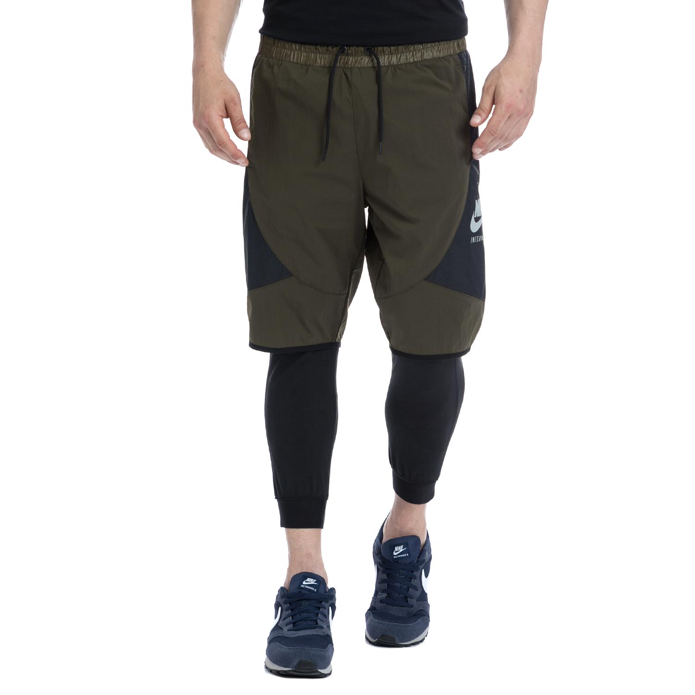 NIKE - Αντρικό σορτς NIKE χακί-μαύρο ανδρικά ρούχα σορτς βερμούδες αθλητικά