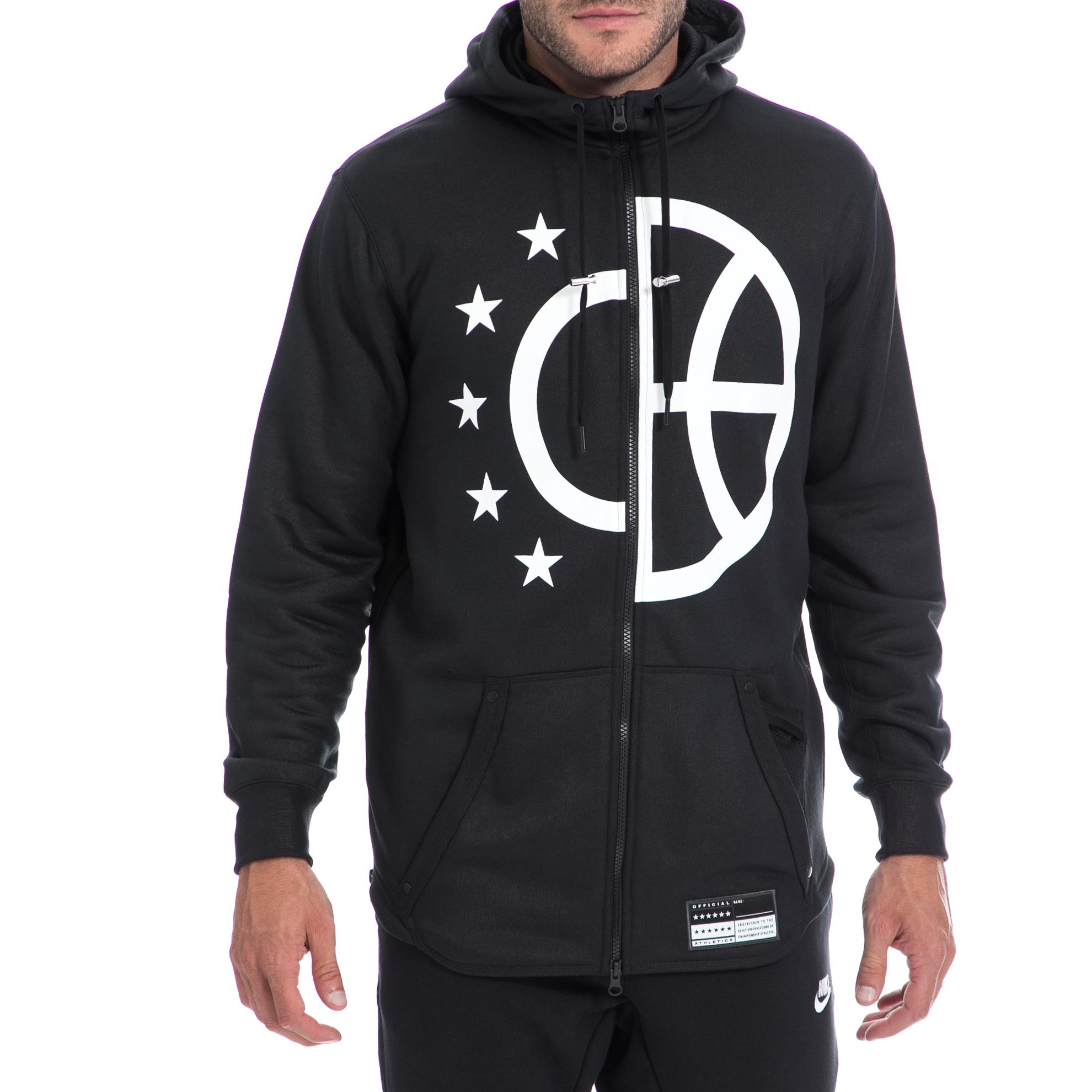 NIKE - Αντρική ζακέτα NIKE μαύρη ανδρικά ρούχα αθλητικά φούτερ μακρυμάνικα