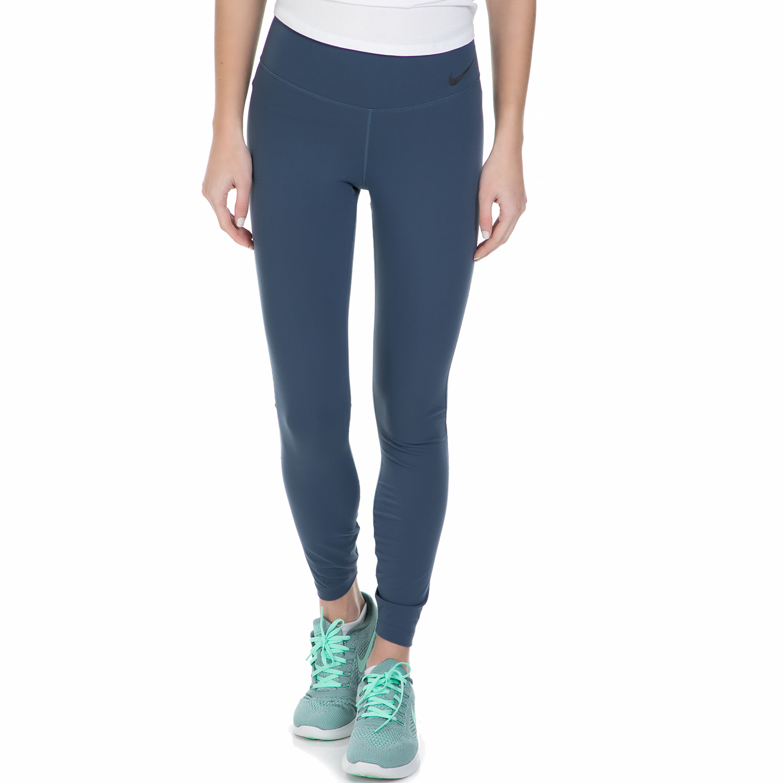 NIKE - Γυναικείο μακρύ κολάν Nike μπλε γυναικεία ρούχα αθλητικά κολάν