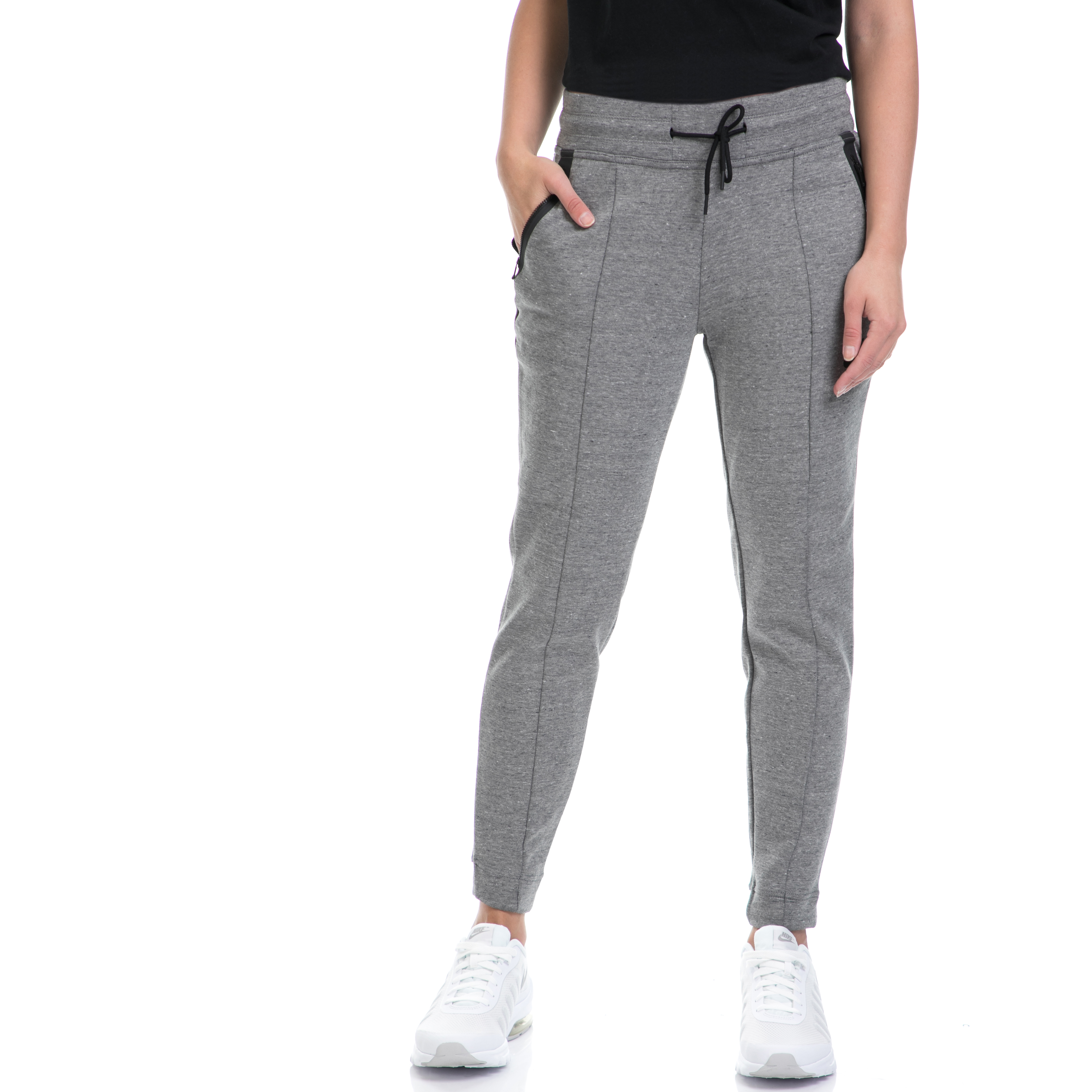 NIKE - Γυναικείο παντελόνι/φόρμα NIKE γκρι γυναικεία ρούχα αθλητικά φόρμες