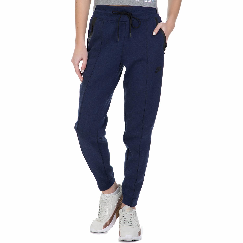 NIKE - Γυναικείο παντελόνι φόρμας Nike TCH FLC μπλε γυναικεία ρούχα αθλητικά φόρμες