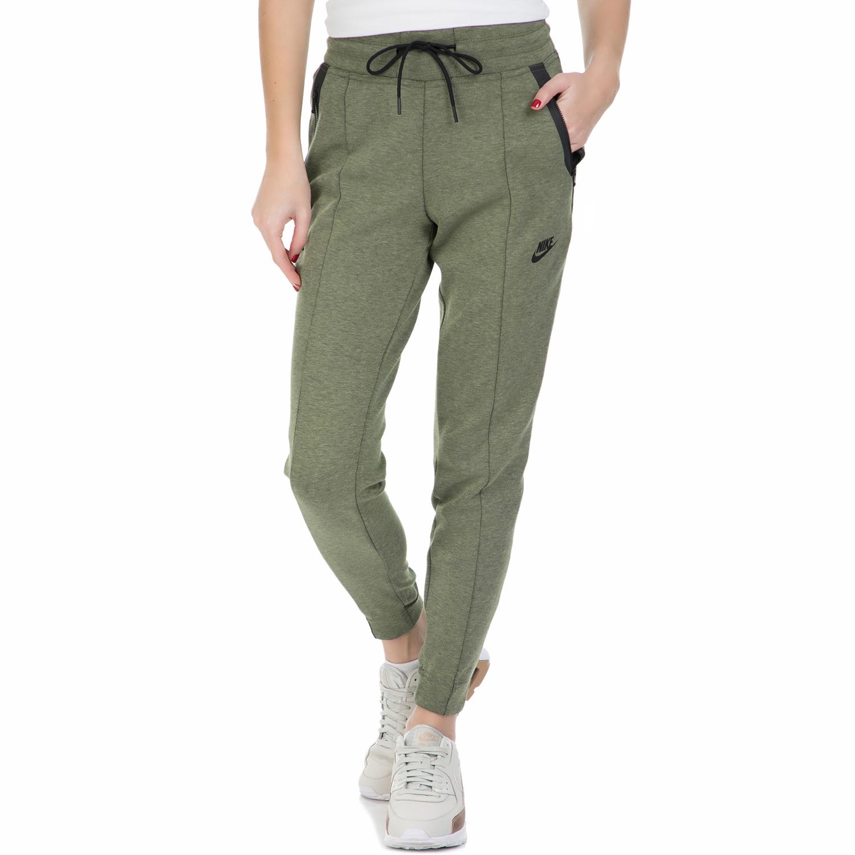 NIKE - Γυναικείο παντελόνι φόρμας Nike TCH FLC χακί γυναικεία ρούχα αθλητικά φόρμες