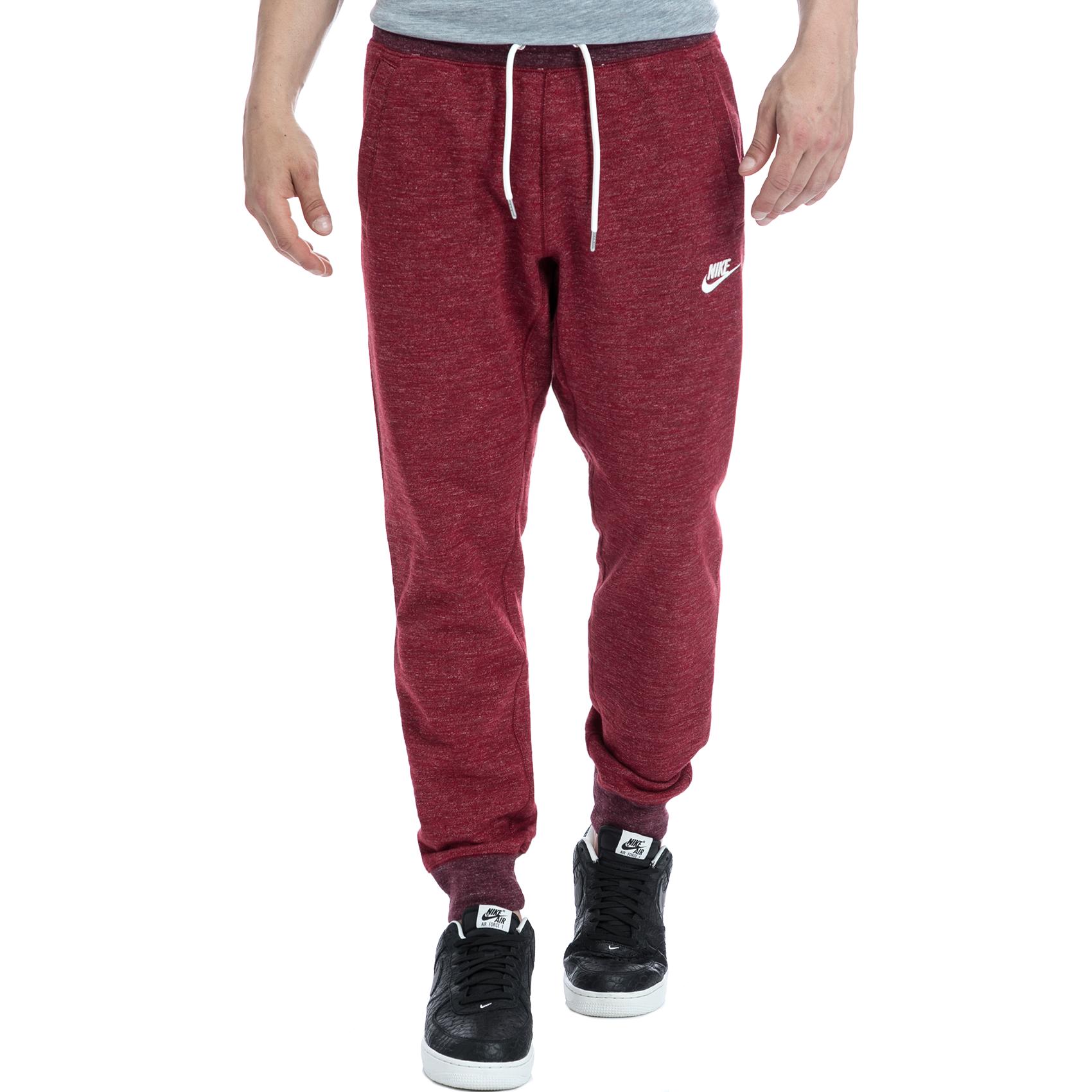 NIKE - Αντρικό παντελόνι NIKE κόκκινο ανδρικά ρούχα αθλητικά φόρμες