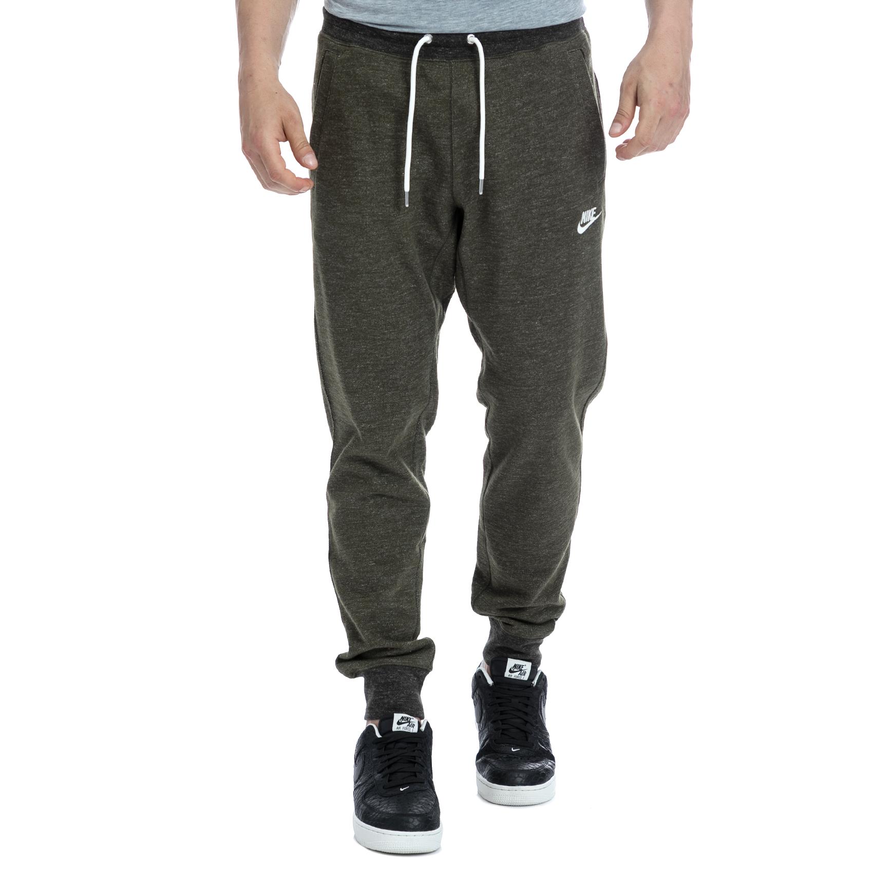 NIKE - Αντρικό παντελόνι NIKE χακί ανδρικά ρούχα αθλητικά φόρμες
