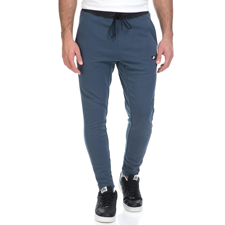 NIKE - Ανδρική φόρμα ΝΙΚΕ NSW MODERN PANT FT μπλε ανδρικά ρούχα αθλητικά φόρμες
