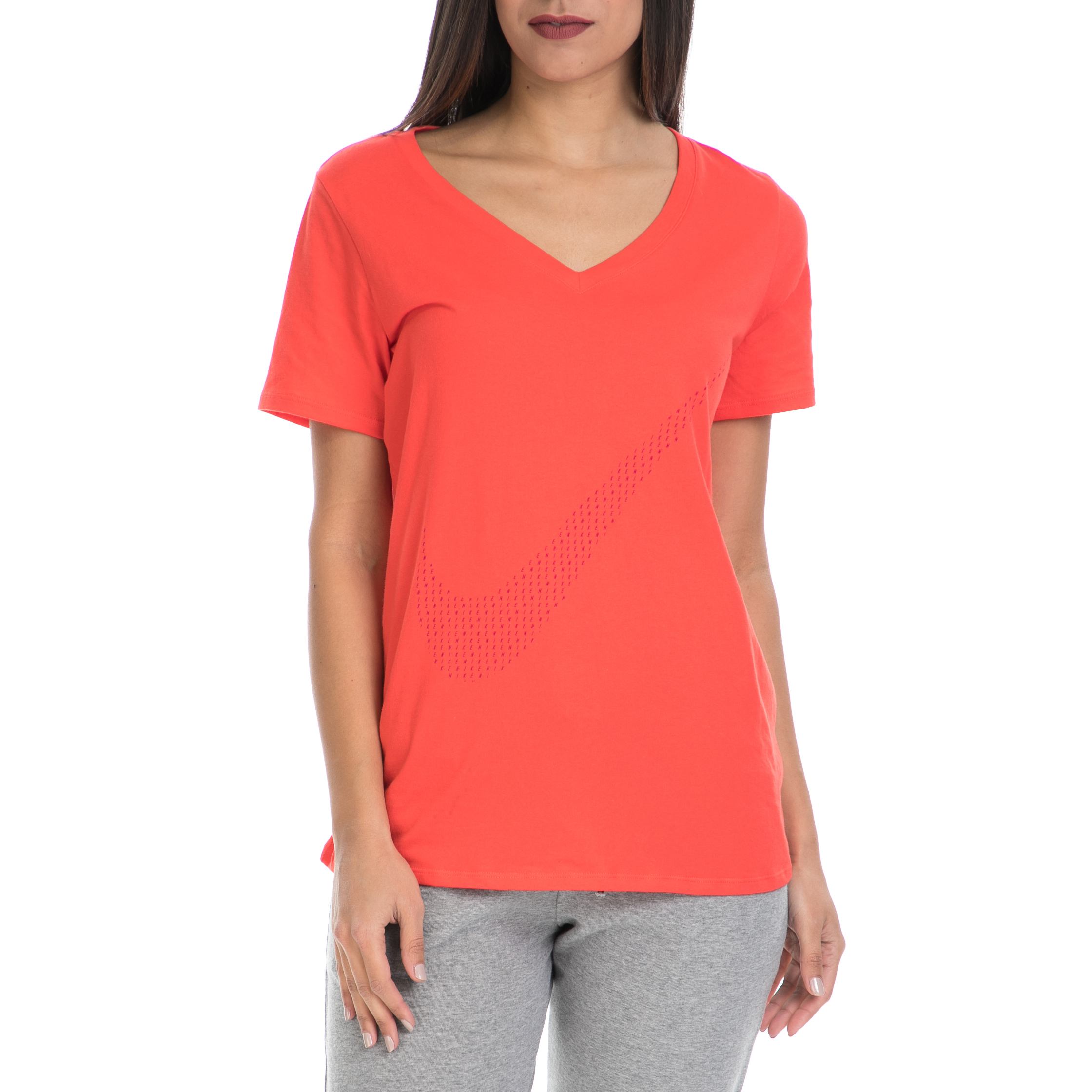 NIKE – Γυναικεία μπλούζα ΝΙΚΕ DRI FIT CTN SWOOSH V