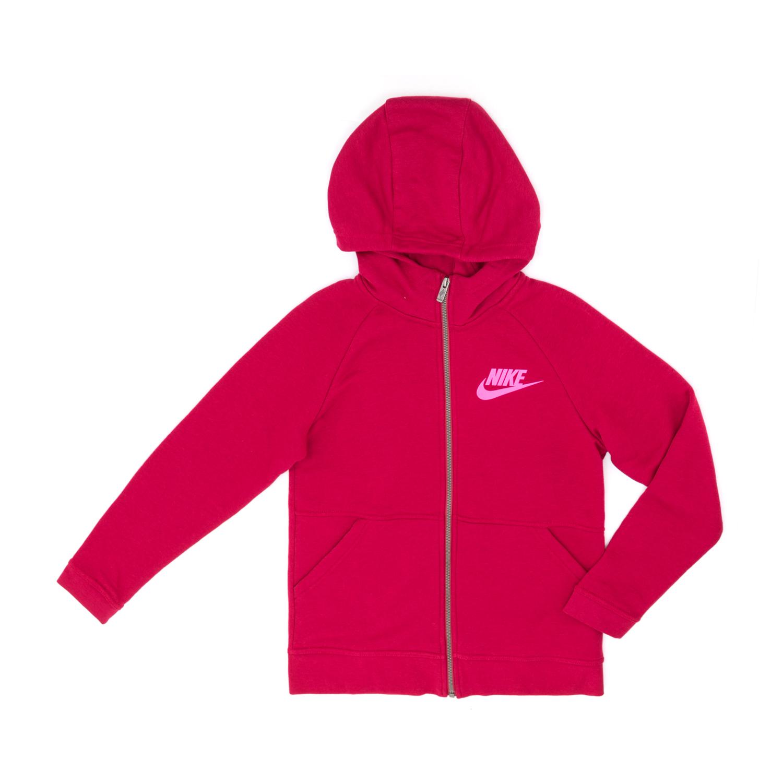 NIKE - Παιδική ζακέτα NIKE κόκκινη παιδικά girls ρούχα αθλητικά