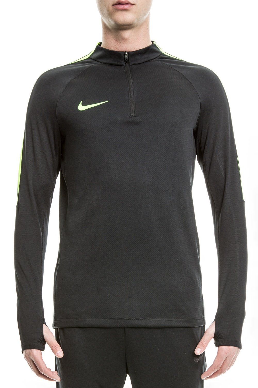 NIKE - Ανδρική αθλητική μπλούζα Nike SQD DRIL TOP μαύρη ανδρικά ρούχα αθλητικά φούτερ μακρυμάνικα