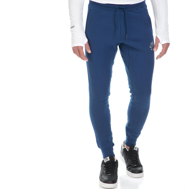 NIKE - Ανδρική φόρμα ΝΙΚΕ NSW JOGGER FLC AIR HRTG μπλε ανδρικά ρούχα αθλητικά φόρμες