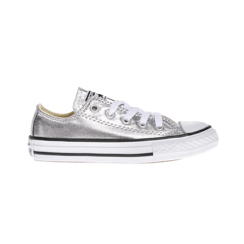 CONVERSE – Παιδικά παπούτσια Chuck Taylor All Star Ox ασημί