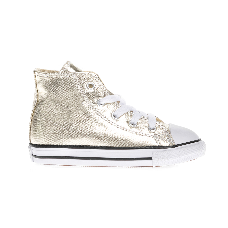 CONVERSE – Βρεφικά μποτάκια Chuck Taylor All Star Hi χρυσά
