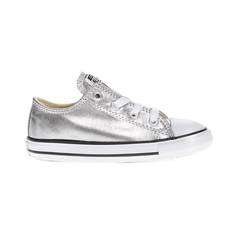 CONVERSE – Βρεφικά παπούτσια Chuck Taylor All Star Ox ασημί