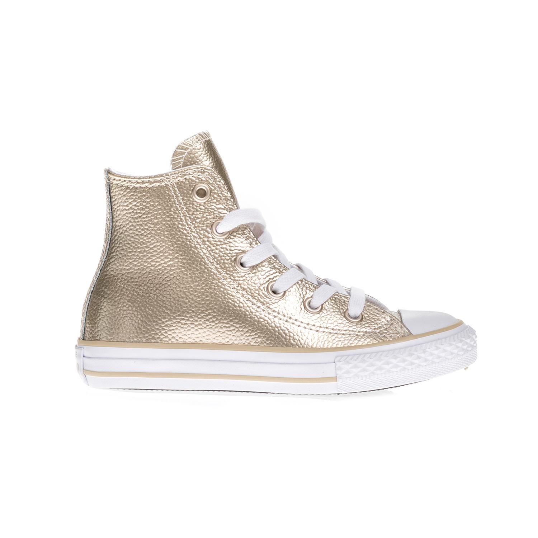 CONVERSE – Παιδικά μποτάκια Chuck Taylor All Star Hi χρυσά