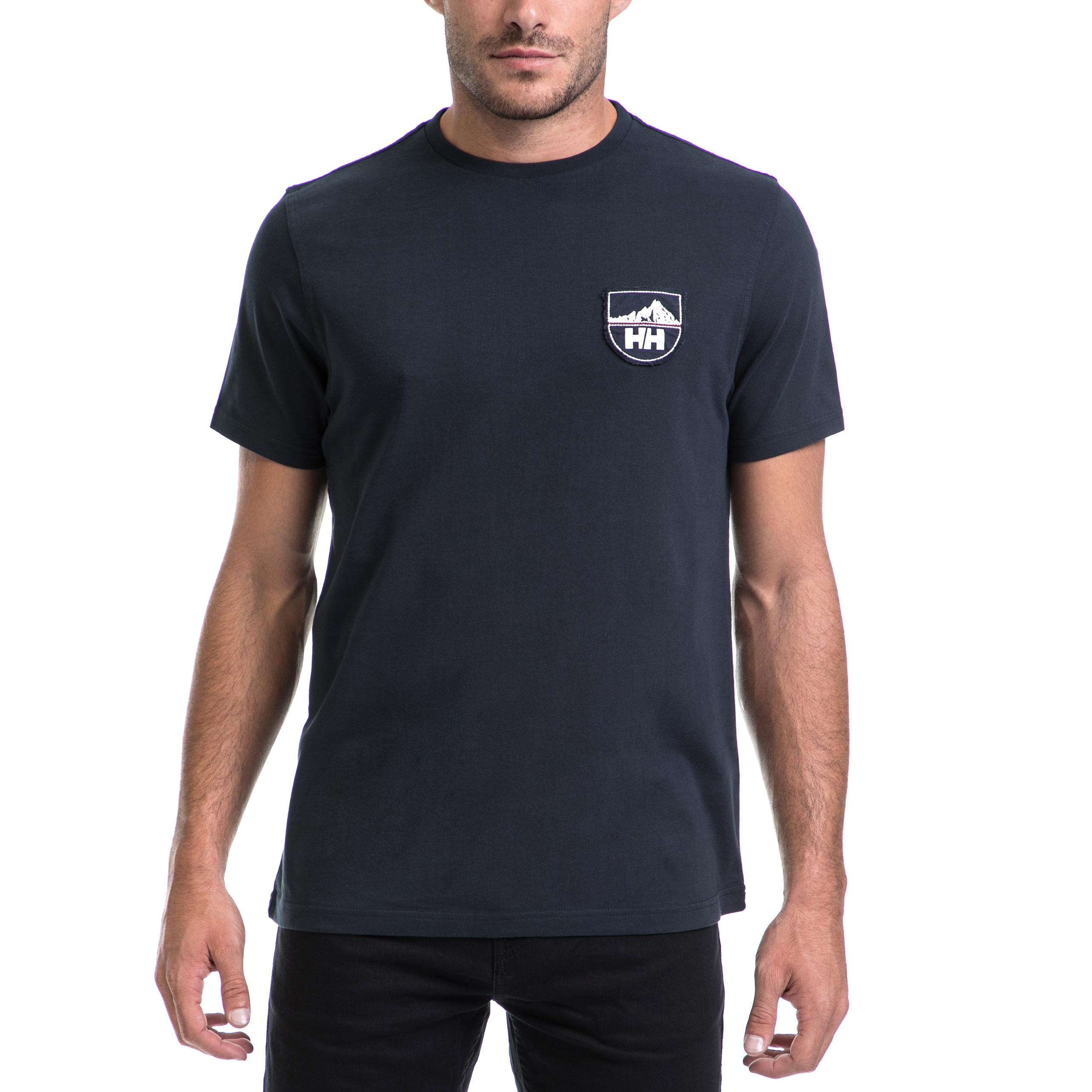 HELLY HANSEN - Αντρική μπλούζα HELLY HANSEN μπλε ανδρικά ρούχα αθλητικά t shirt