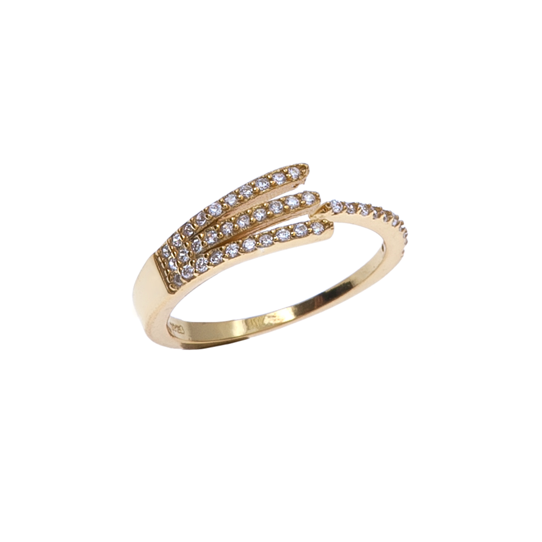 JEWELTUDE – Ασημένιο επίχρυσο δαχτυλίδι JEWELTUDE